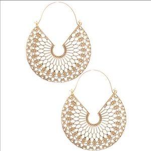 Jewelry - Bohemian Gold Statement Earrings